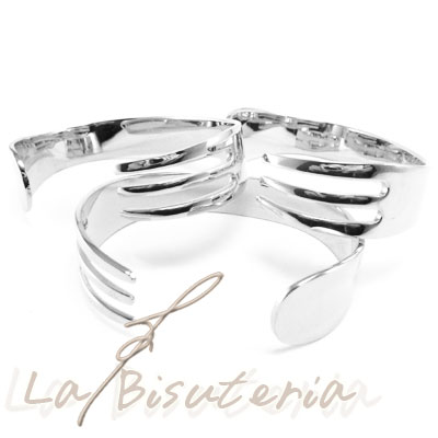 Pulsera tenedor plata 25u 8 eur tenedor plat pulseras for Pulsera tenedor