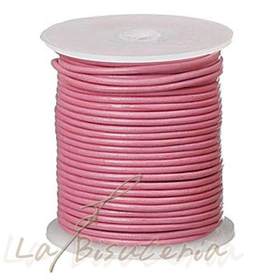 25 metros cord n de cuero color rosa varios gruesos for Proveedores de material para bisuteria